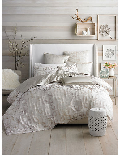 Hotel Collection Fresco Geo-Print Duvet-GOLD-Queen