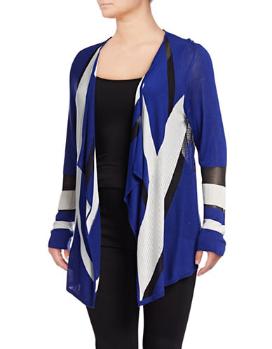 I.N.C International Concepts Plus Plus Colourblocked Cardigan-BLUE-3X