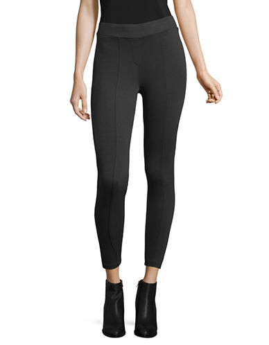 Style And Co. Petite Comfort Waist Seam-Front Ponte Leggings-GREY-Petite Large