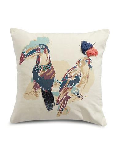 Martha Stewart Birds Decor Square Cushion-MULTI-One Size