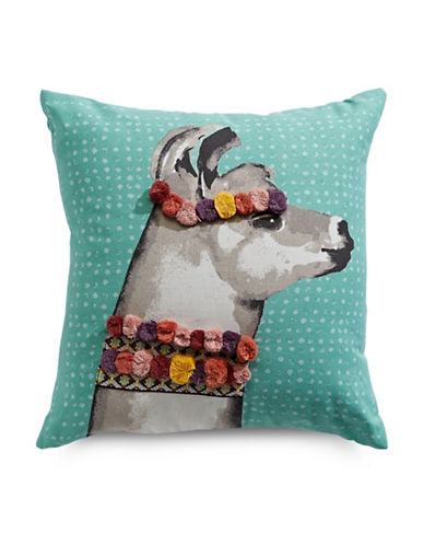 Martha Stewart Llama Decor Cushion-TEAL-One Size