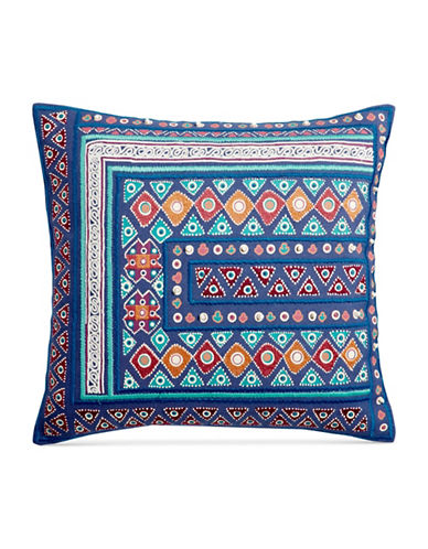 Martha Stewart Mahal Embroidery Cushion-BLUE-One Size