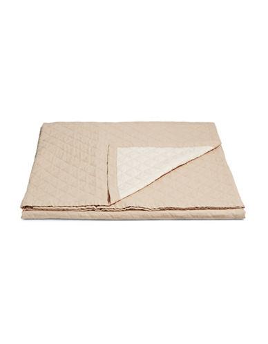Martha Stewart Broadstitch Diamond Linen-Cotton Quilt-TAN-King