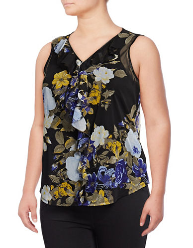 I.N.C International Concepts Plus Plus Floral Tank Top-MULTI-3X