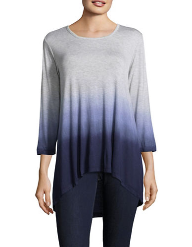 Style And Co. Faded Print Top-OMBRE INK-Medium