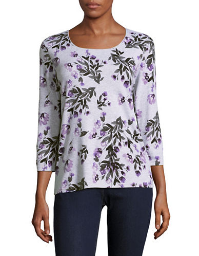 Karen Scott Evangeline Stem Top-GREY MULTI-Small