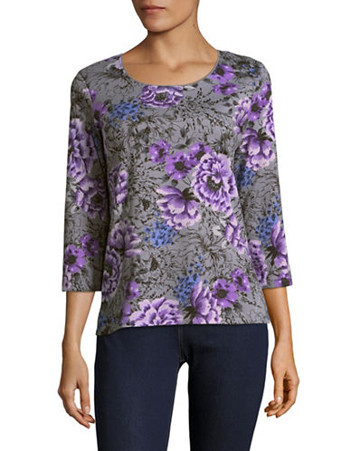 Karen Scott Symphony Sachet Top-GREY MULTI-XX-Large