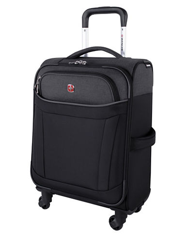 Swiss Wenger Society Collection 20-Inch Softside Spinner Carry-On-BLACK-20