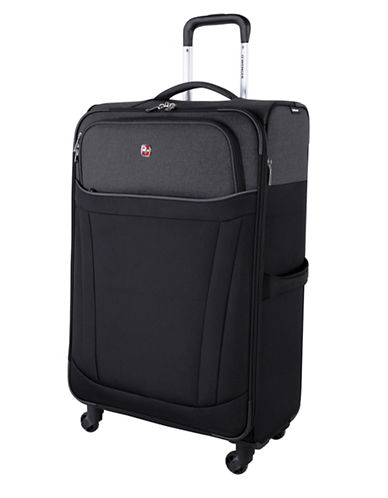 Swiss Wenger Society Collection 28-Inch Softside Spinner Luggage-BLACK-28