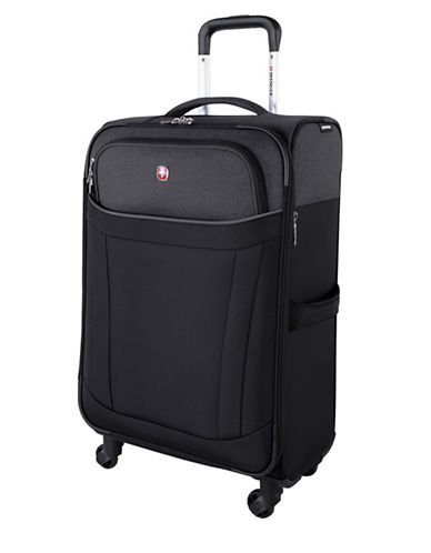 Swiss Wenger Society Collection 24-Inch Softside Spinner Luggage-BLACK-24