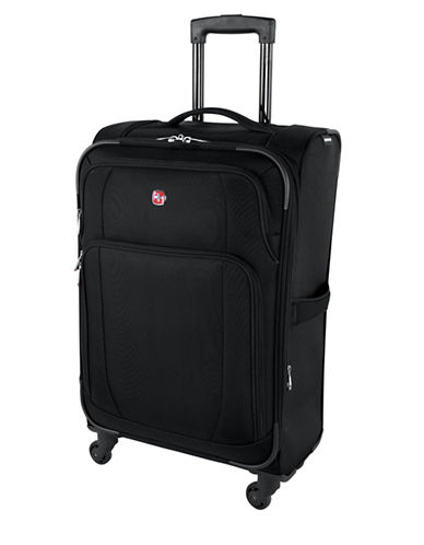 Swiss Wenger Microlite Collection 24-Inch Softside Spinner-BLACK-24