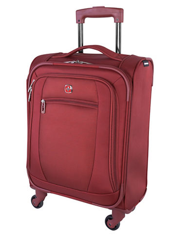 Swiss Wenger Microlite Collection 20-Inch Softside Spinner-BURGUNDY-20