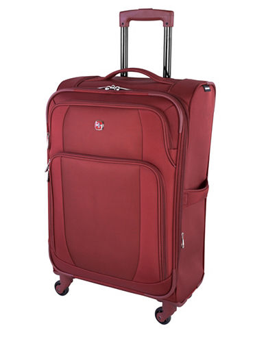 Swiss Wenger Microlite Collection 24-Inch Softside Spinner-RED-24