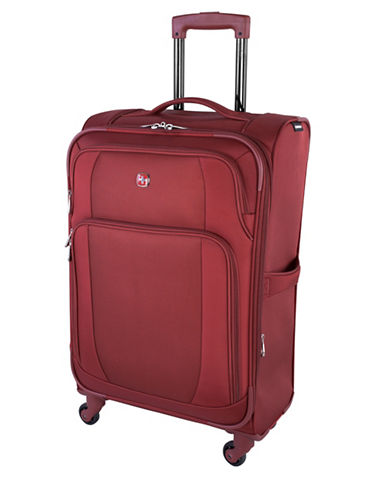 Swiss Wenger Microlite Collection 28-Inch Softside Spinner-BURGUNDY-28