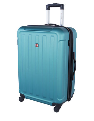 Swiss Wenger Le Luisin Collection 24-Inch Hardside Spinner-BLUE-24