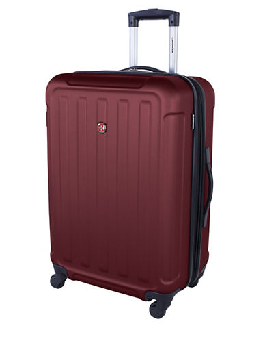 Swiss Wenger Le Luisin Collection 24-Inch Hardside Spinner-RED-24