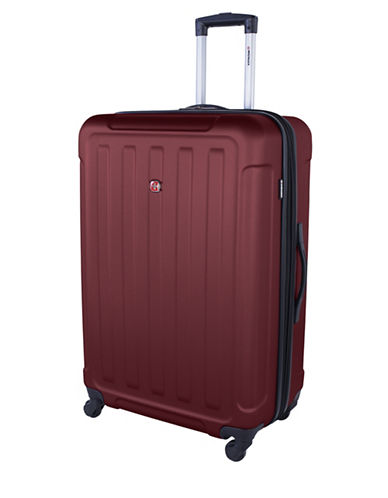 Swiss Wenger Le Luisin Collection 28-Inch Hardside Spinner-RED-28