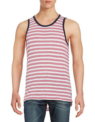 Howe Striped Hi-Lo Tank-RED-Large 88516307_RED_Large