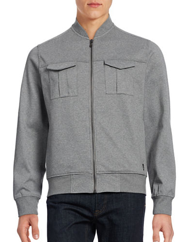 Howe Pinstriped Utility-Bomber Jacket-GREY-Small 88808633_GREY_Small