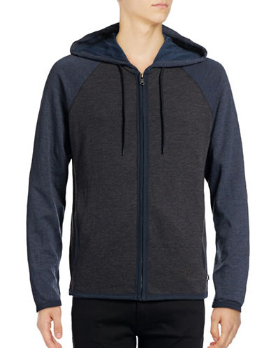 Howe Colourblocked Zip Hoodie-BLACK-X-Large 88768256_BLACK_X-Large