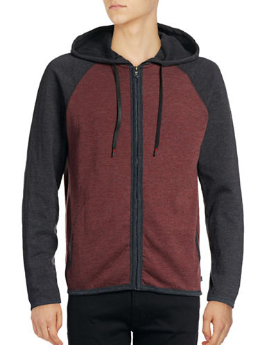 Howe Colourblocked Zip Hoodie-RED-X-Large 88768261_RED_X-Large