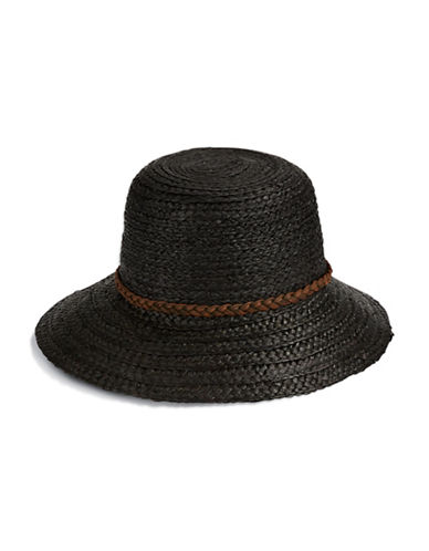 Echo Mid Brim Straw Hat-BLACK-One Size