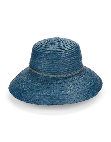 Echo Mid Brim Straw Hat-BLUE-One Size