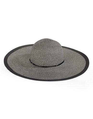 Echo Metallic-Blend Floppy Hat-BLACK-One Size