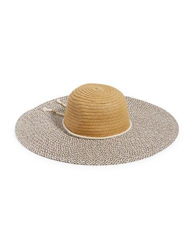 Echo Multi-Woven Floppy Hat-BEIGE-One Size