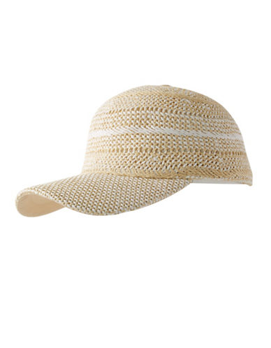 Echo Hand Woven Baseball Hat-WHITE-One Size