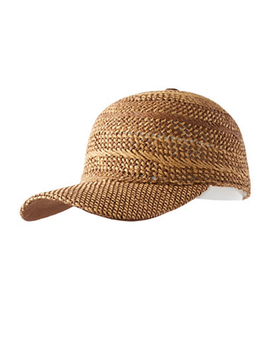 Echo Hand Woven Baseball Hat-NATURAL-One Size