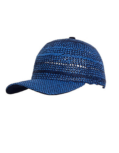 Echo Hand Woven Baseball Hat-BLUE-One Size