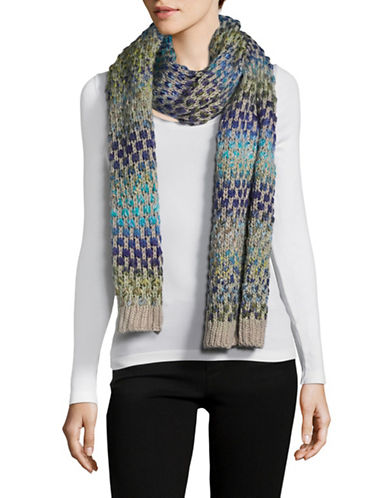 Echo Rainbow Space-Dyed Scarf-SILVER-One Size