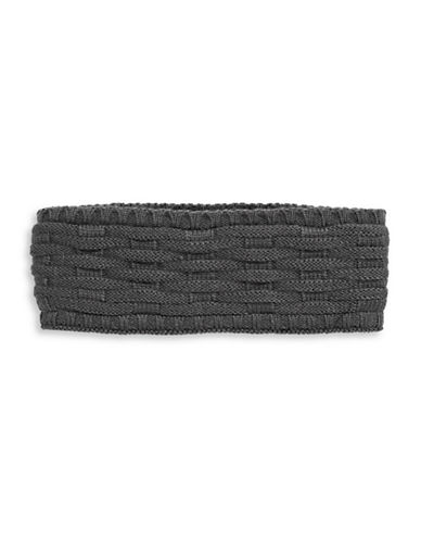 Echo Cross Cable-Knit Headband-MAGNET-One Size