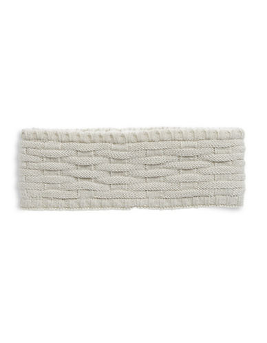 Echo Cross Cable-Knit Headband-SILVER-One Size