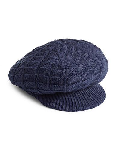 Echo Arrow-Stitch Newsboy Hat-NAVY-One Size