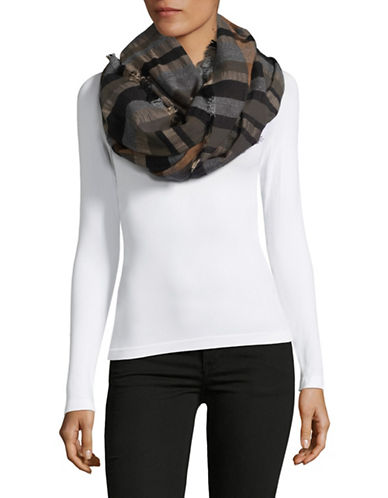 Echo Sheer Checked Wrap-BLACK-One Size