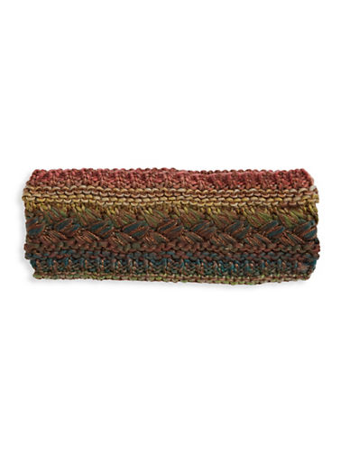 Echo Rainbow Stitched Headband-FOG-One Size