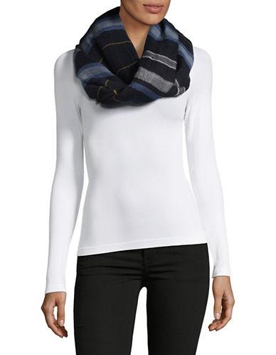 Echo Striped Cotton Wrap-BLUE-One Size
