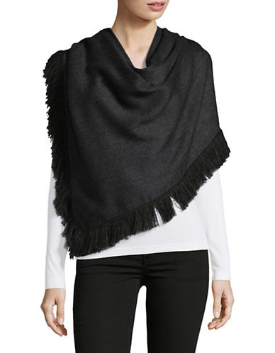 Echo Triangular Fringe Wrap-GREY-One Size