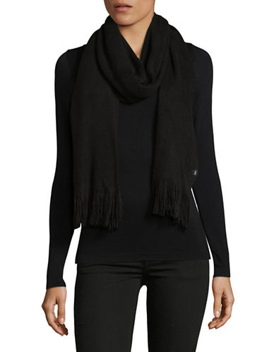 Echo Fringe Milk Muffler-BLACK-One Size