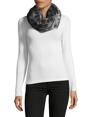 Echo Oversized Mix Scarf-BLACK-One Size