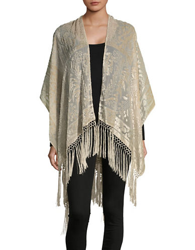 Echo Velvet Burnout Ruana-FOG-One Size