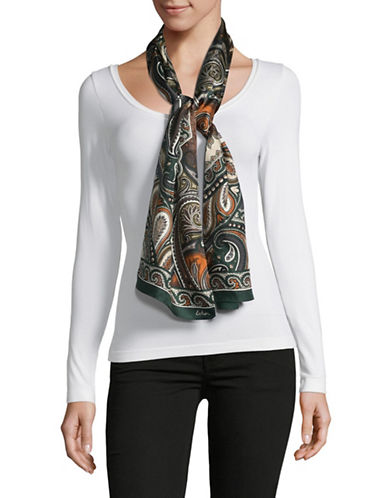 Echo Silk Paisley Oblong Scarf-GREY-One Size