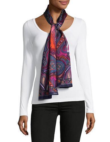 Echo Silk Paisley Oblong Scarf-MULTI-One Size