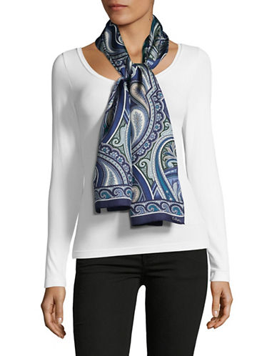 Echo Silk Paisley Oblong Scarf-BLUE-One Size