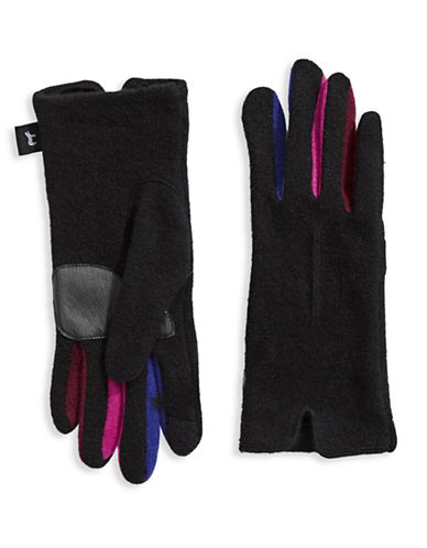 Echo Multicoloured Gloves-BLACK-Small