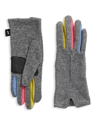 Echo Multicoloured Gloves-GREY-Large