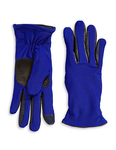 Echo Metallic Active-Fit Gloves-BLUE-Small