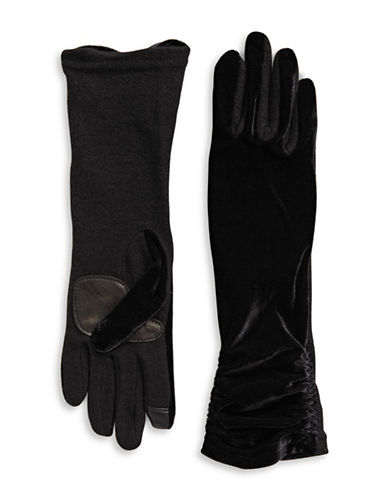 Echo Long Velvet Gloves-BLACK-Small